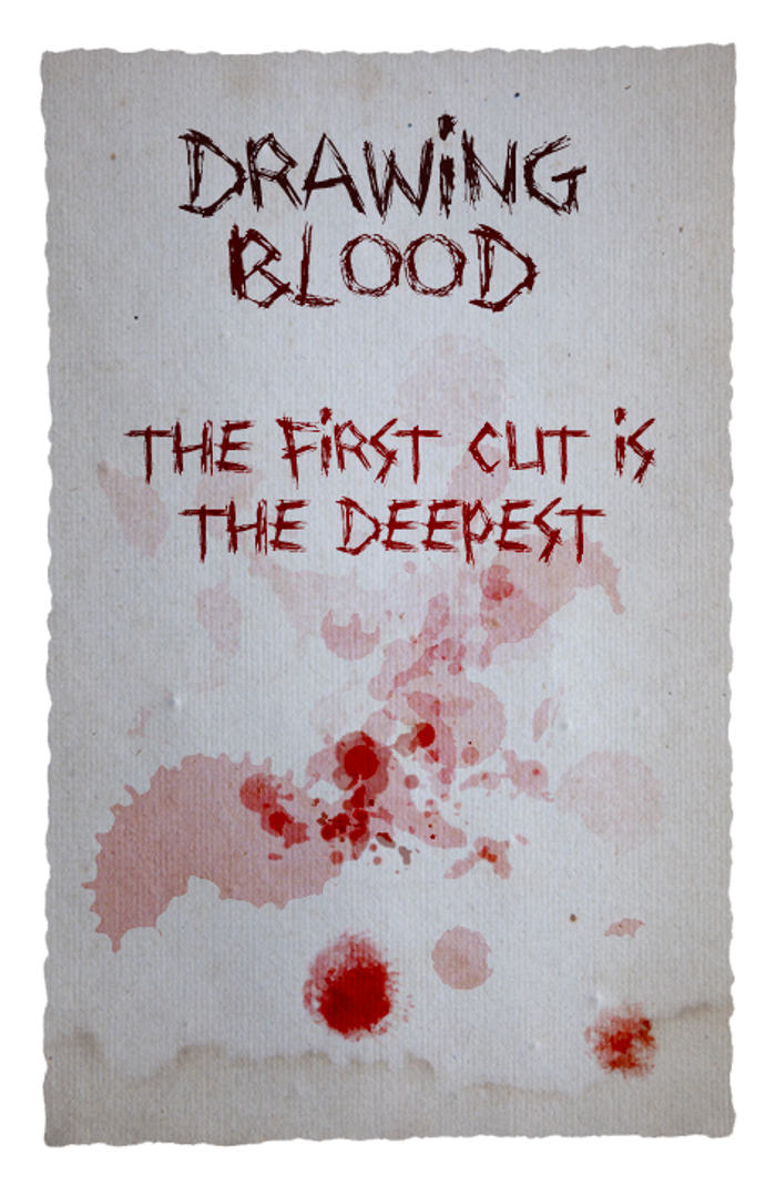 Drawing Blood Font poster