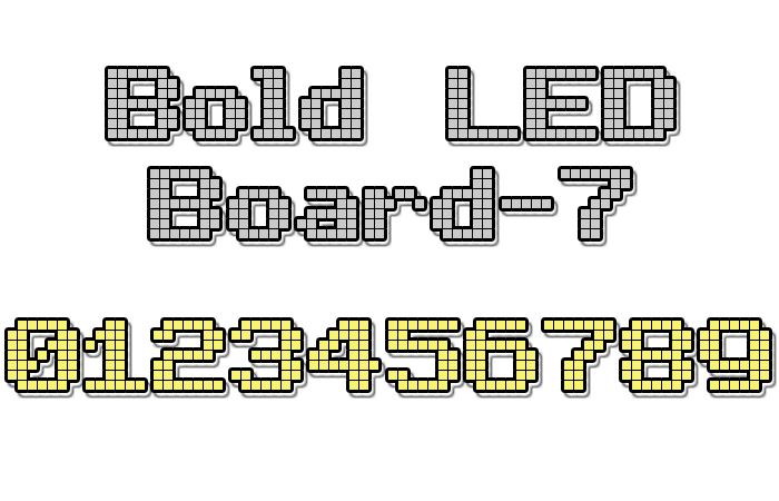 Bold LED Board-7 Font poster