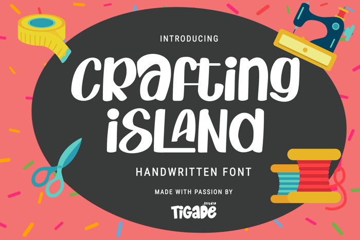 Crafting Island Font poster