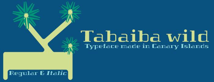 Tabaiba wild ffp Font poster