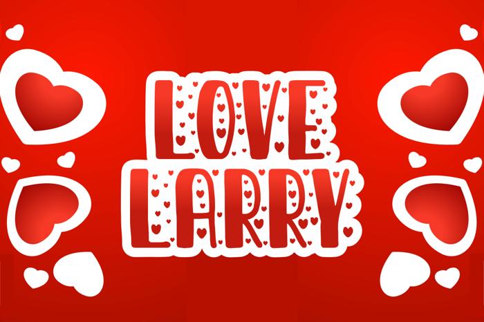 love larry Font poster
