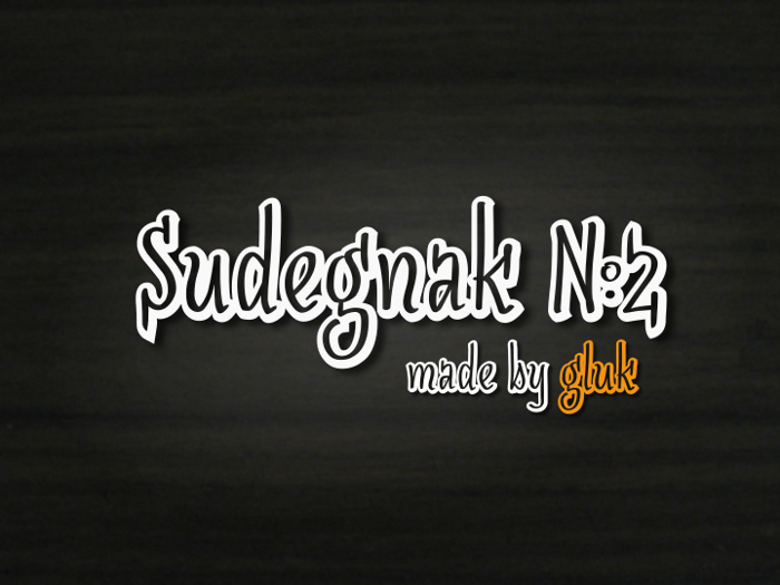 SudegnakNo2 Font poster