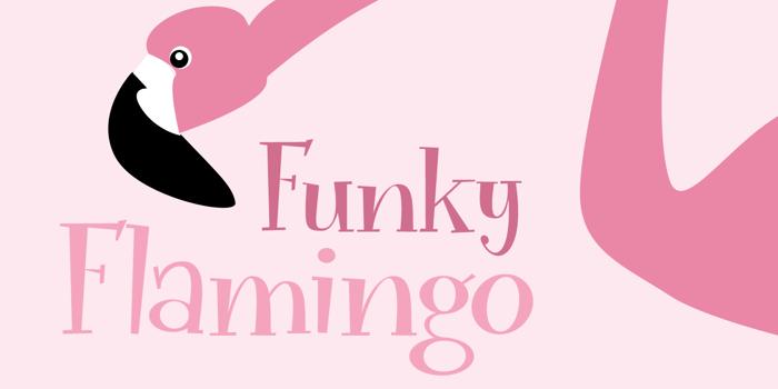Funky Flamingo DEMO Font poster