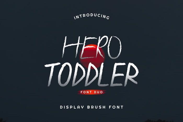 Hero Toddler Font poster