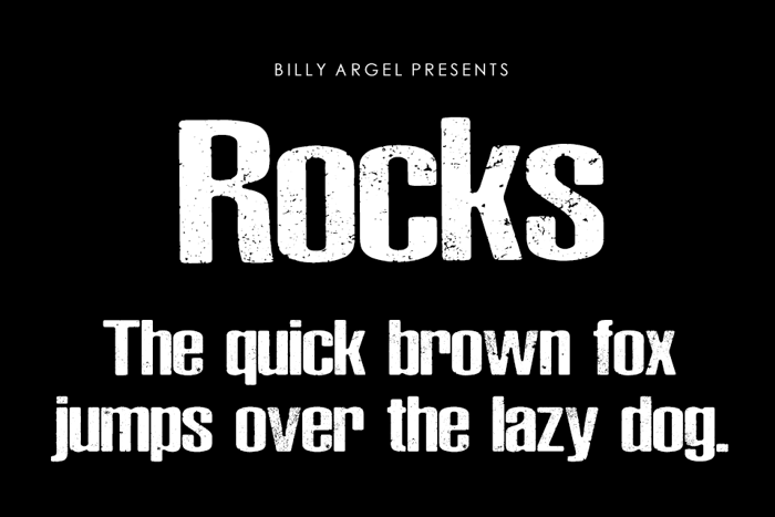 Rocks Font poster