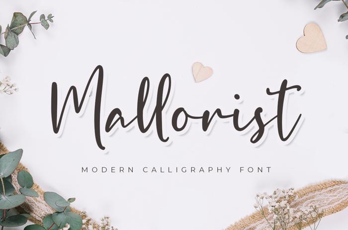Mallorist Font poster
