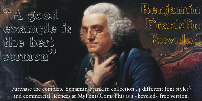 BenjaminFranklin Beveled Font poster