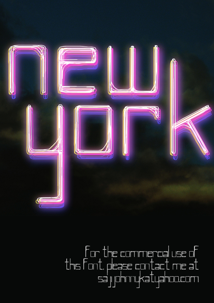 NEW YORK Font poster