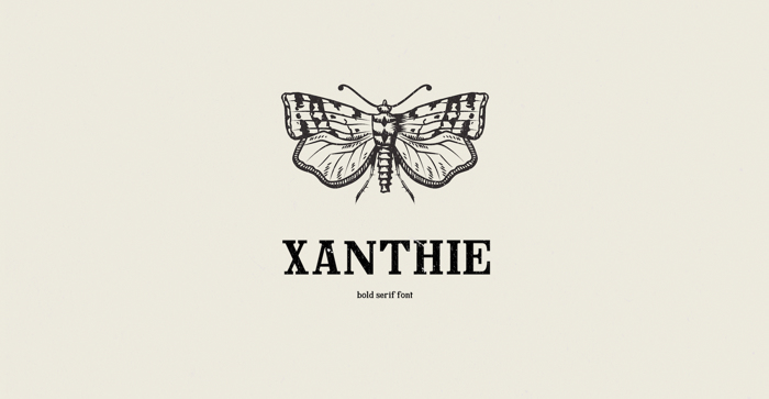 Xanthie Font poster