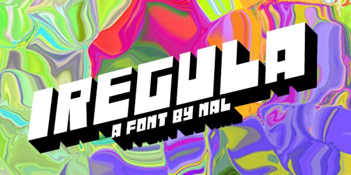Iregula Font poster