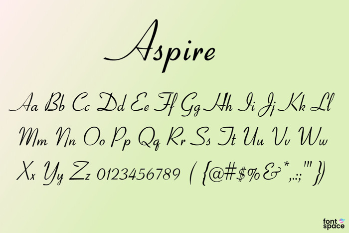 Aspire Font poster