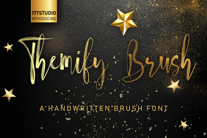 Themify Brush Font poster