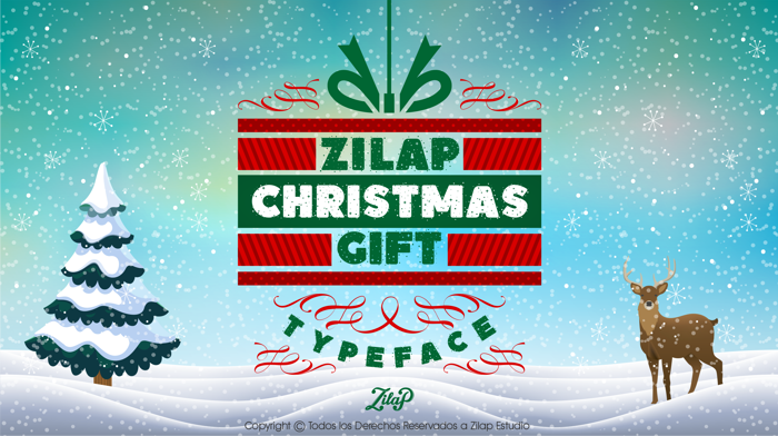 Zilap Christmas Gift Font poster