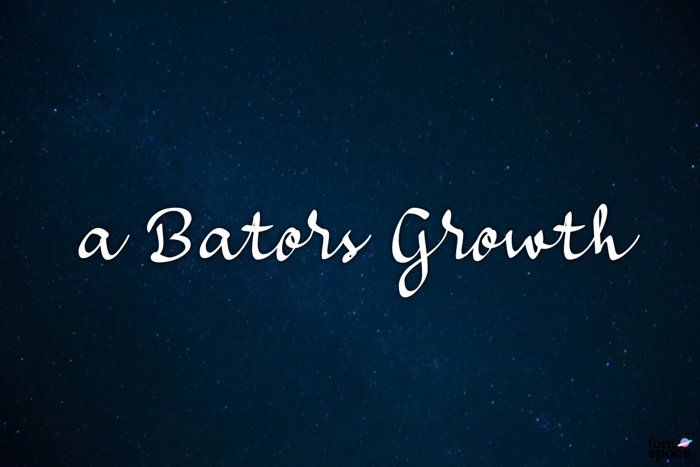a Bators Growth Font poster