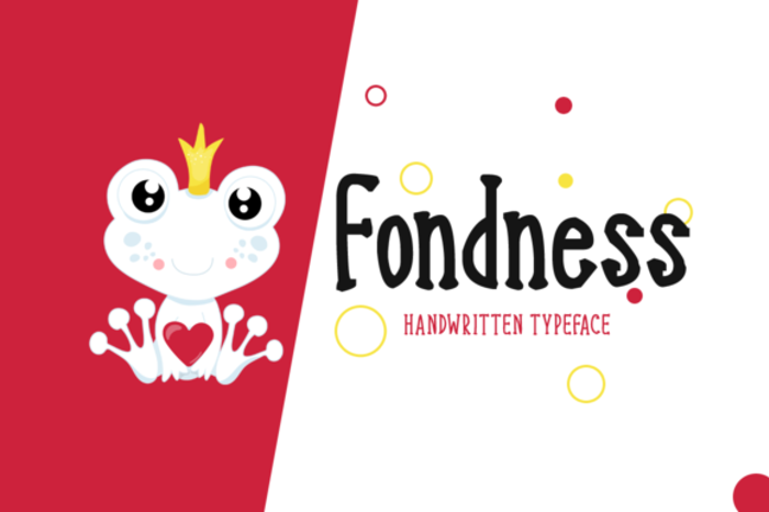 Fondness Font poster