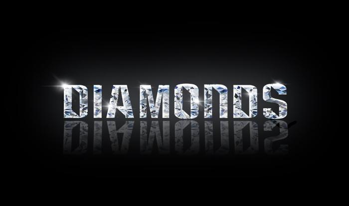 diamonds Font poster