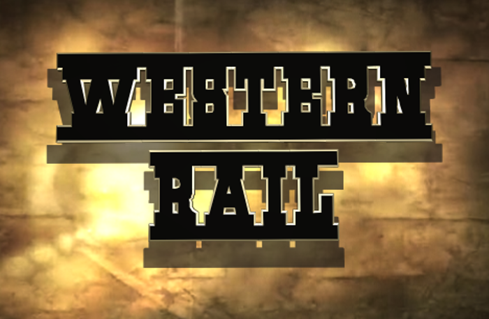 Western Rail Font poster