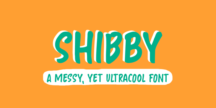 Shibby Font poster