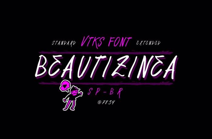 Vtks Beautizinea Font poster