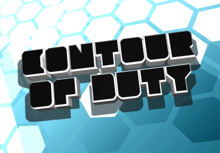 Contour of Duty Font poster