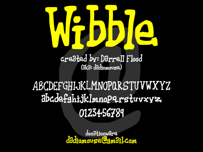 Wibble Font poster