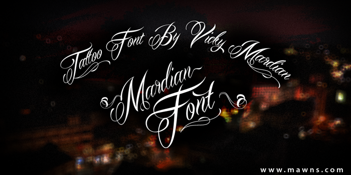 Mardian Demo Font poster
