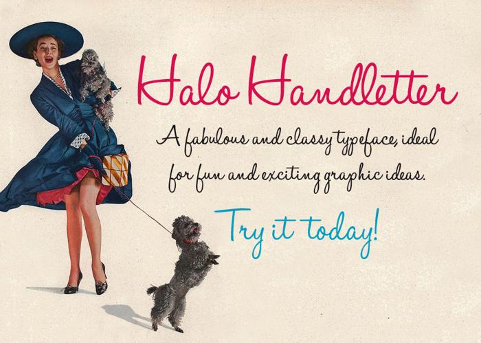 Halo Handletter Font poster