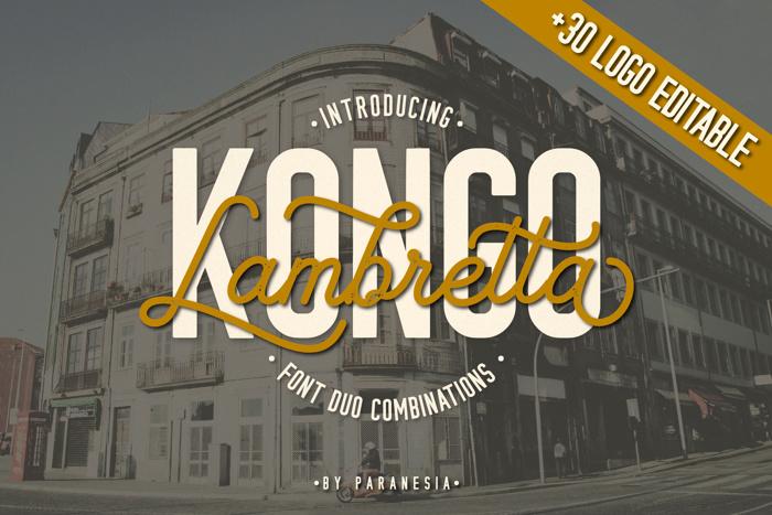 KONGO Font poster