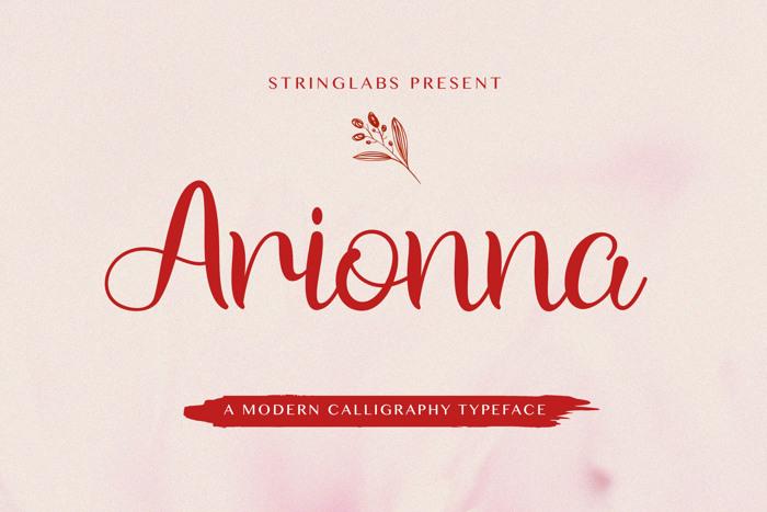 Arionna Font poster