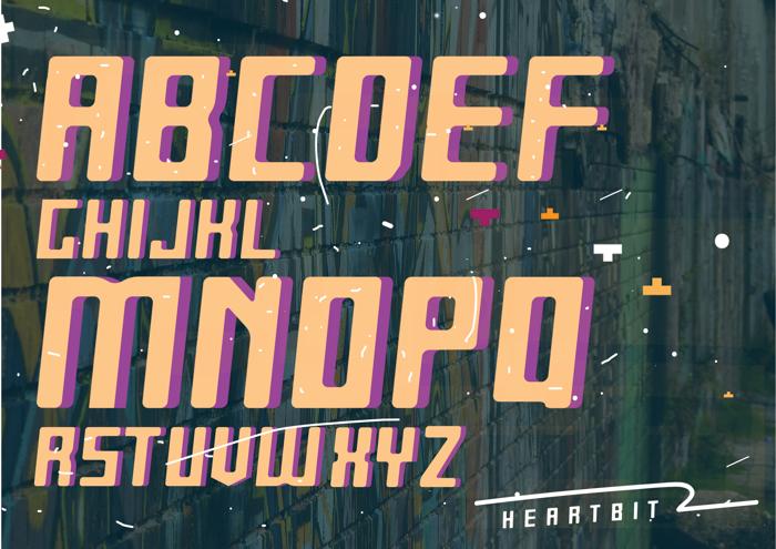 Heartbit Font poster