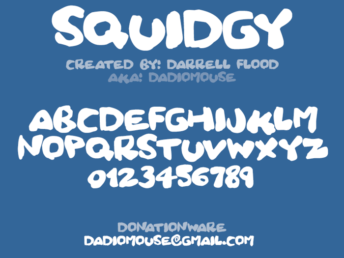 Squidgy Font poster