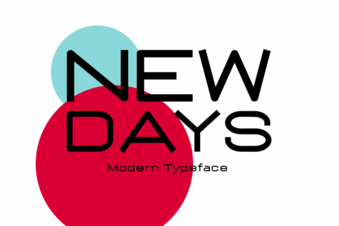 New Days Font poster