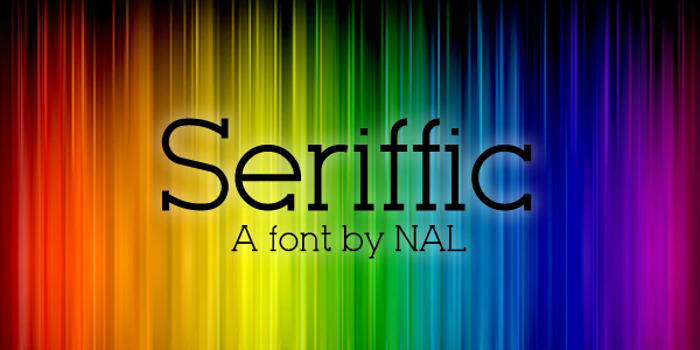 Seriffic Font poster