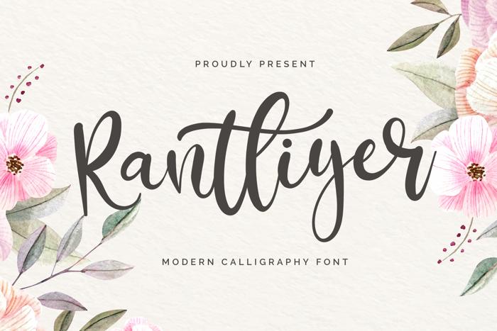 Rantliyer Font poster