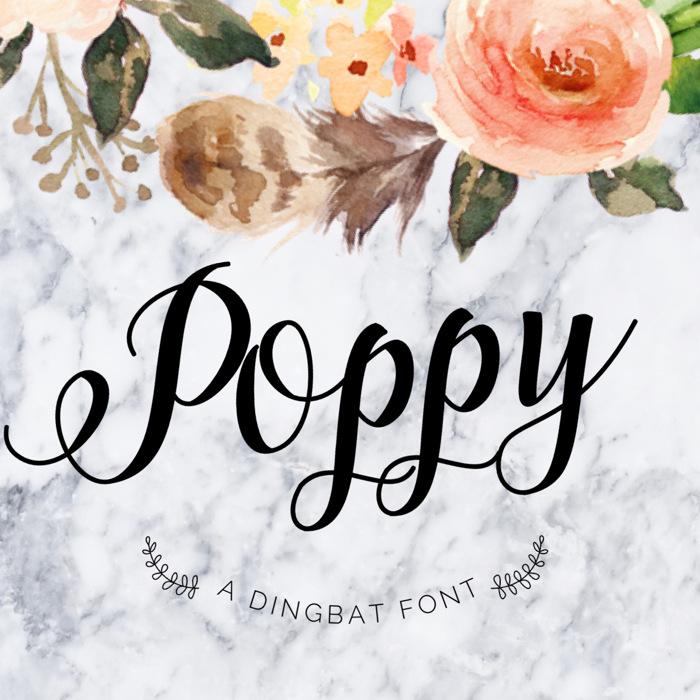Poppy Font poster