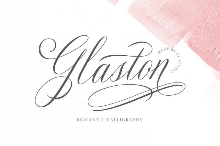 Glaston Font poster