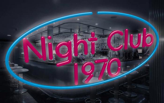 Night Club 70s Font poster