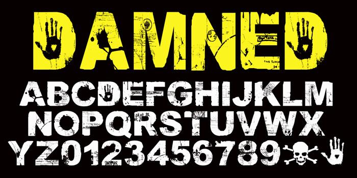 DAMNED Font poster