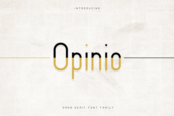 Opinio Font poster