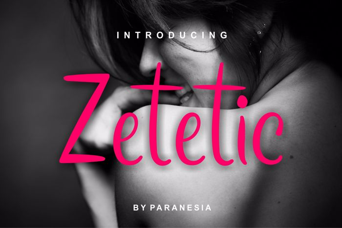 zetetic Font poster
