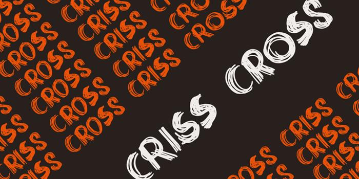 DK Criss Cross Font poster