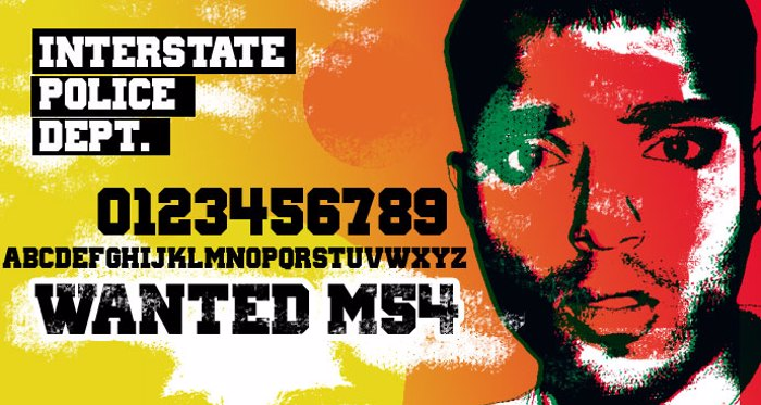 Wanted M54 Font poster