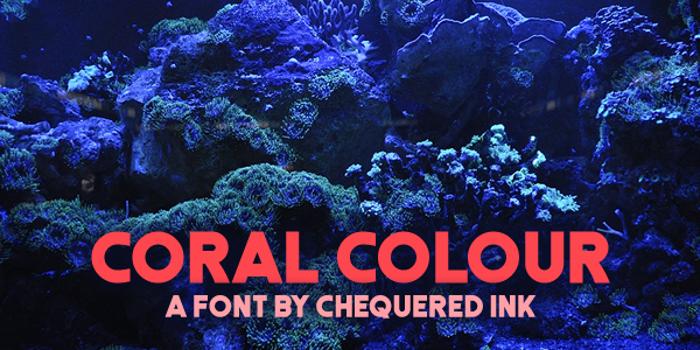 Coral Colour Font poster