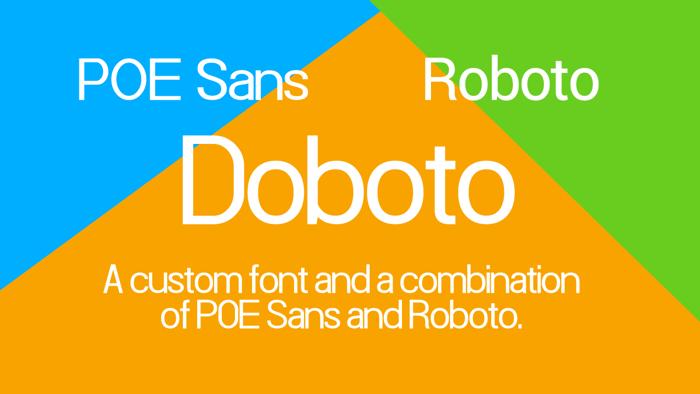 Doboto Font poster