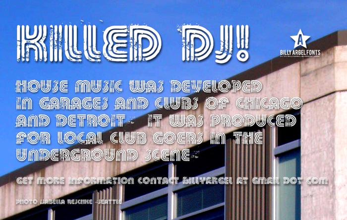KILLED DJ Font poster