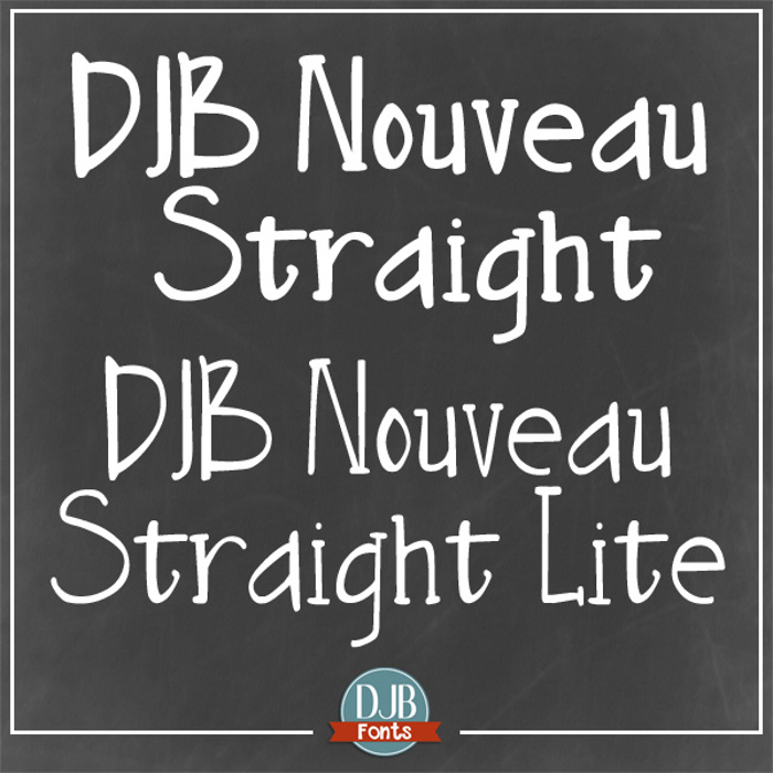 DJB Nouveau Straight Font poster