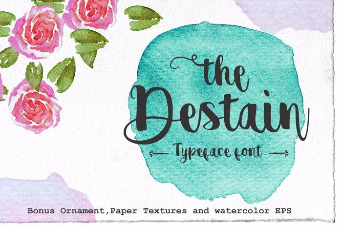 destain alternative Font poster
