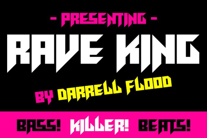 Rave King Font poster