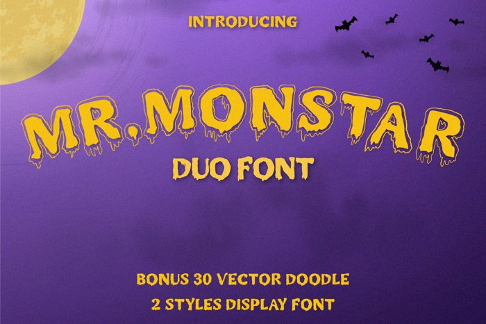 Mr. Monstar Font poster