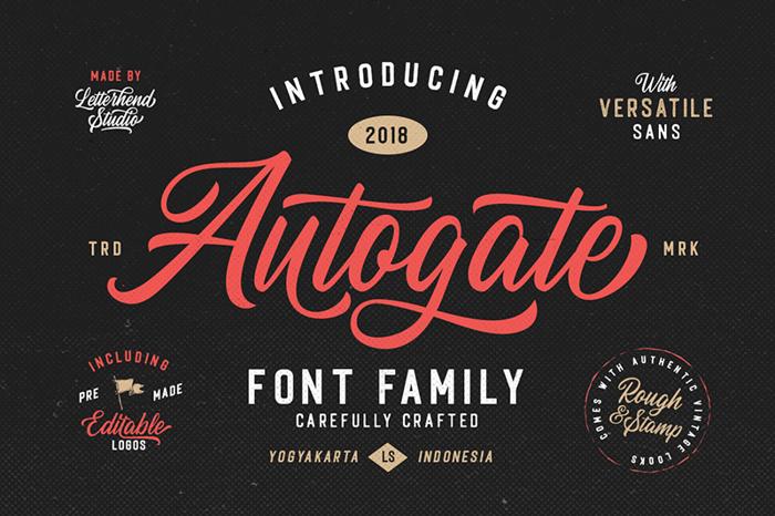Autogate DEMO Font poster